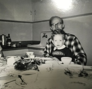 My Dad and my Brother on his 2nd Birthday